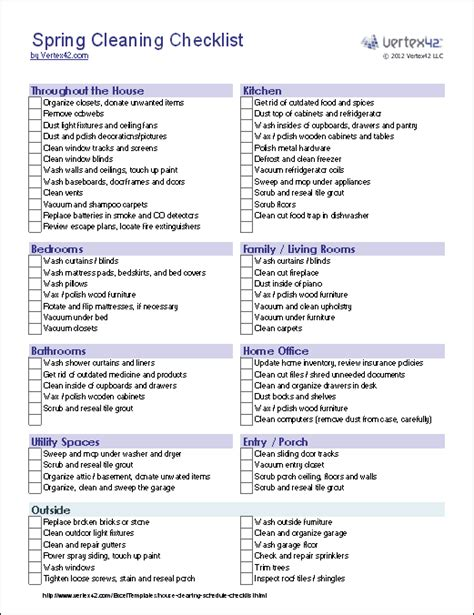 cleaning list house cleaning printable free house cleaning price list