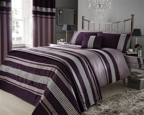 plum bedding sets king plum purple metallic effect detail quilt duvet
