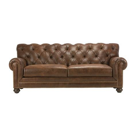 ethan allen leather furniture chadwick leather sofas ethan allen us chesterfield sofa swooning