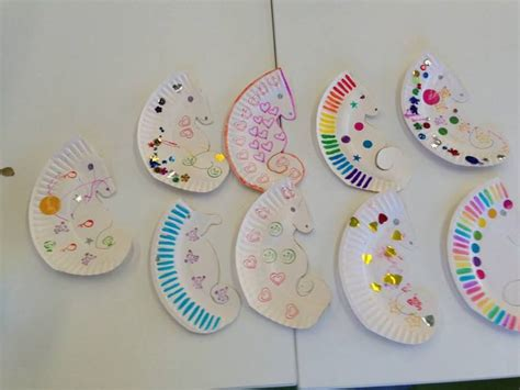 seahorse paper plate craft paper plate seahorse template