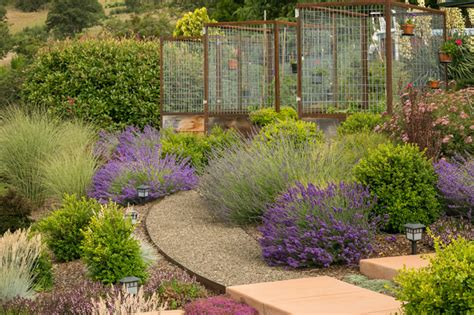 types of pathways in landscaping deer fencing landscape contemporary with bushes curved
