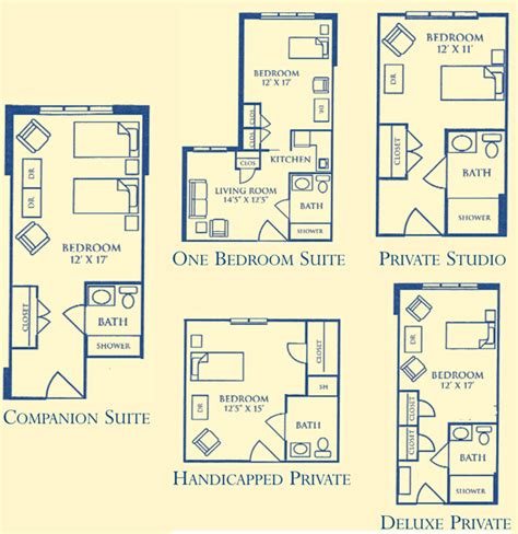 floor plans for assisted living facilities floor plans pricing morningside of bellgrade senior