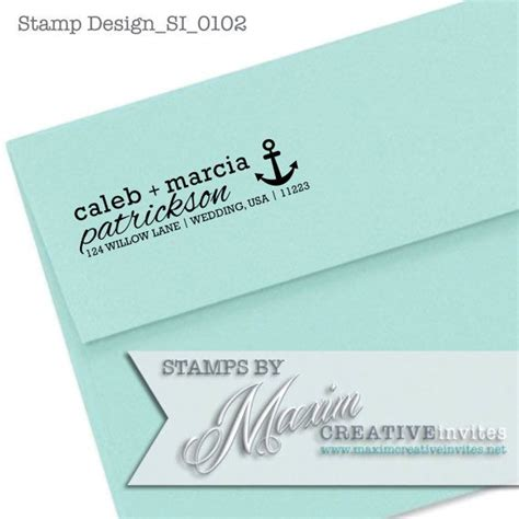 custom rubber sts for wedding invitations personalized self inking nautical rubber st wedding