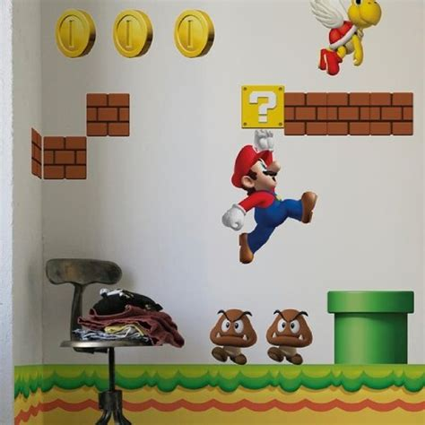 mario wall sticker new mario bros wall stickers useful ideas