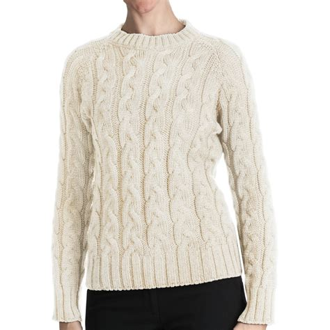 sweaters for womens peregrine by j g merino wool sweater cable crew