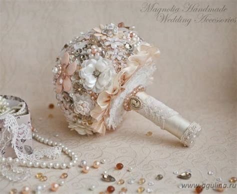 shabby chic bouquet ready to ship brooch bouquet shabby chic bouquet