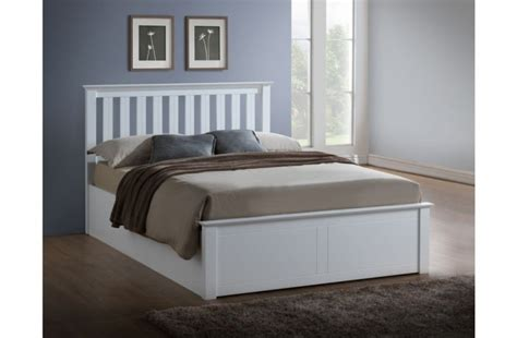 small white wooden bed frame birlea 4ft small white ottoman lift wooden