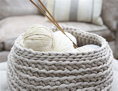 knitting basket how to firm crochet or knitting