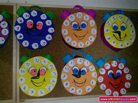 clock craft for crafts actvities and worksheets for preschool toddler and