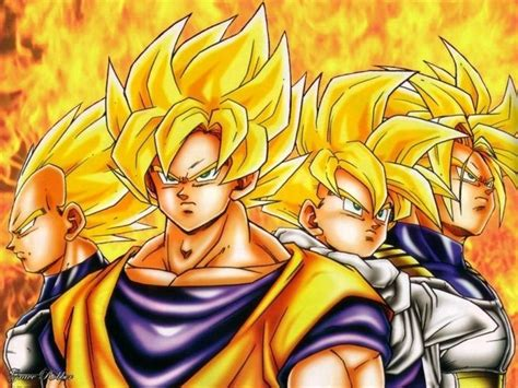 goku gohan vegeta and trunks dbz pinterest trunks