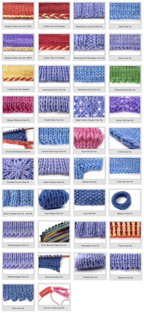 cast on knitting knitting for beginners 38 different and awesome cast on