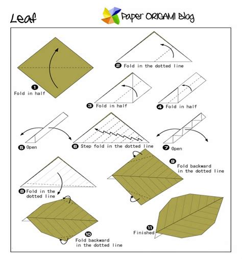 Easy Origami Leaf Paper Origami Guide