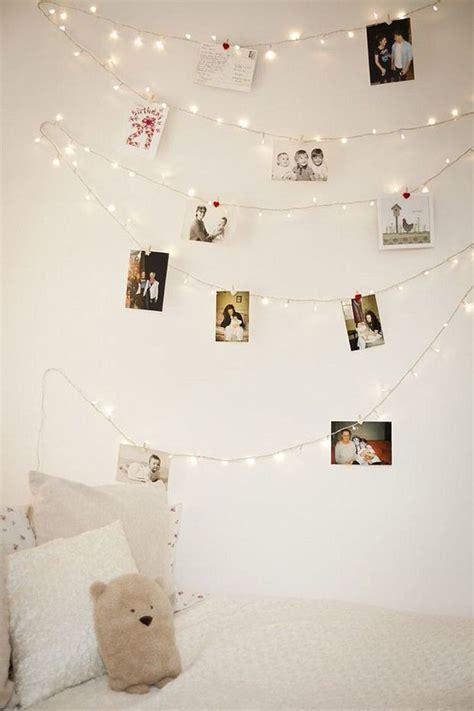 wall string lights diy photo wall string lights