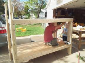 how to make built in bunk beds built in bunk bed construction