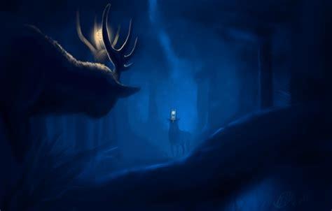 groupon paint nite deer обои животные ночь арт лес картинки на рабочий стол
