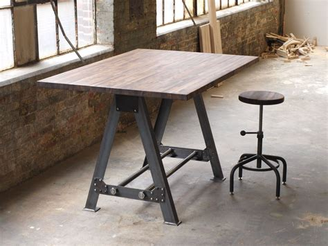 industrial kitchen table furniture made industrial a frame table kitchen island bar by
