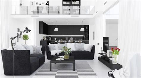 black and living room 30 black white living rooms that work their monochrome magic