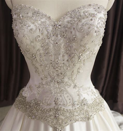 beaded corset wedding dress aliexpress buy princess bling wedding