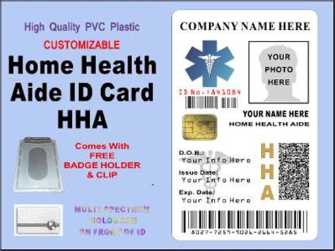 how to make id cards at home hha home health aide id card badge customizable