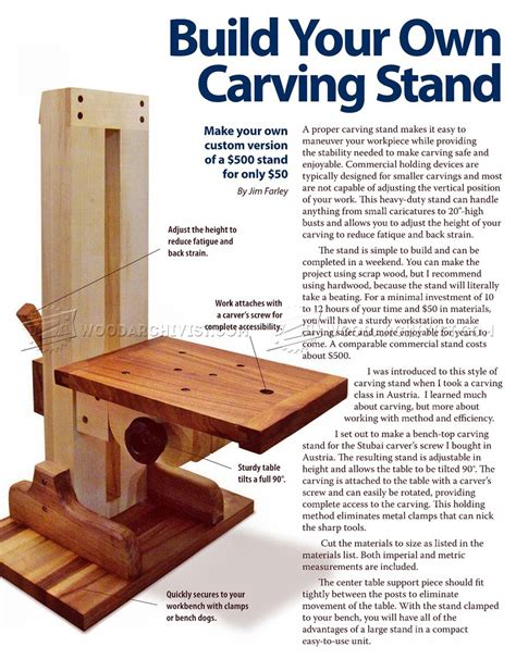 how to start woodworking build your own carving stand woodarchivist