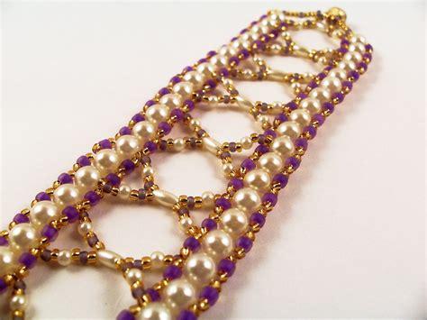 beading pearls patterns pretty pearls bracelet pattern beading tutorial in pdf