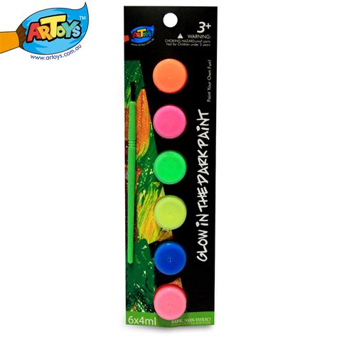 glow in the paint quality artoys watercolor glow in the paint 6 color high