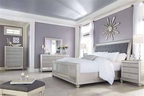 silver bedroom furniture sets coralayne silver bedroom set b650 157 54 96 furniture