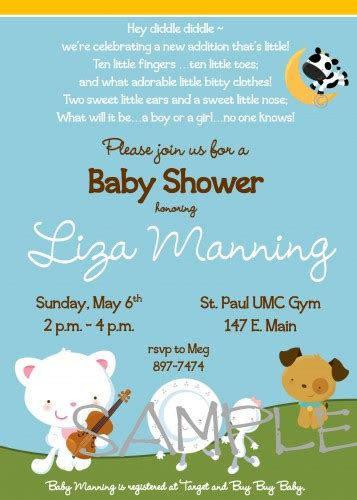 baby shower invitations katiebellepaperie artfire shop