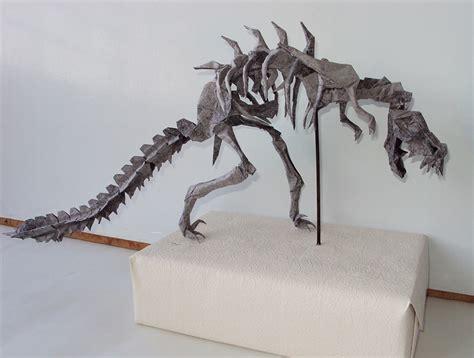 origami t rex skeleton mind blowing origami dinosaur skeletons origami me