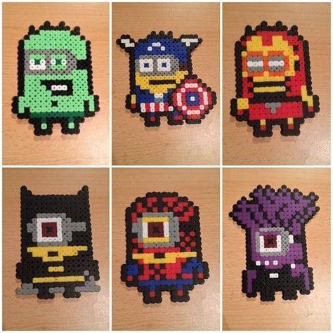 minion perler bead minions minion batman and evil minion hama