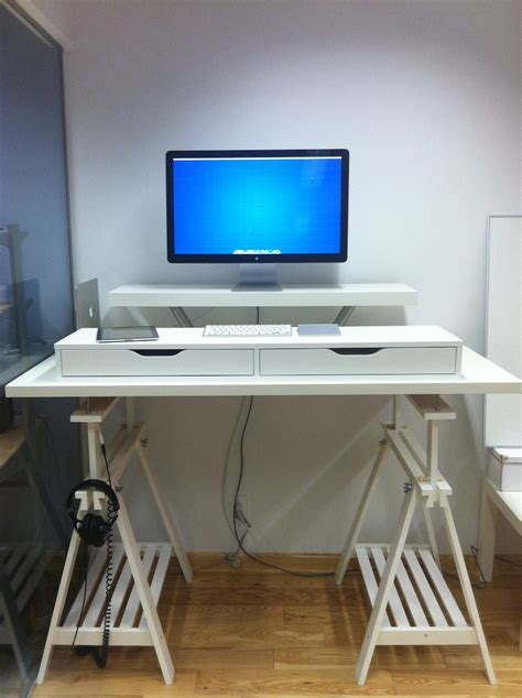 hack ikea 10 ikea standing desk hacks with ergonomic appeal