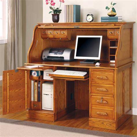 corner roll top desk oak roll top computer desk home furniture design