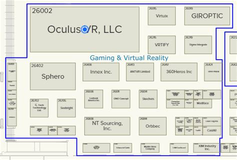 floor plan vr oculus attending ces 2016 with show floor booth