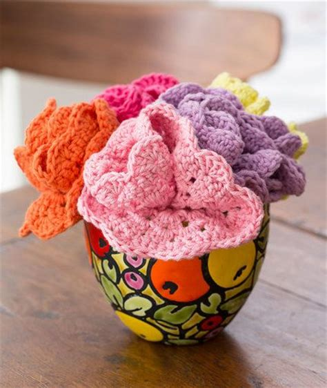knitted bouquet pattern 21 best images about crochet dishcloths on