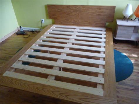 how to make a size bed frame with drawers how to build a study inspired bed mid century modern