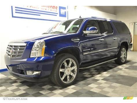 Cadillac Escalade Blue by 2012 Xenon Blue Metallic Cadillac Escalade Esv Luxury Awd