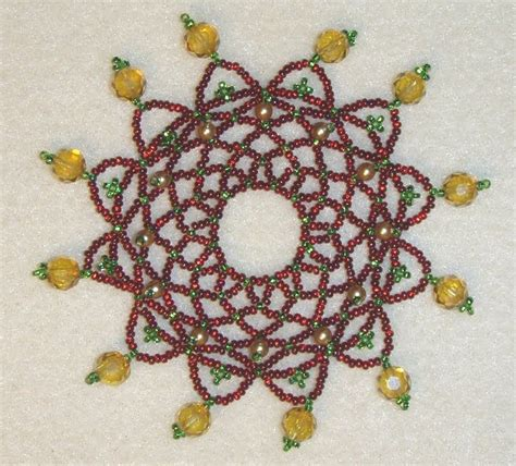 beaded ornament pattern 2308 best beaded ornaments images on