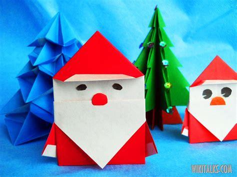 make origami santa claus how to make santa claus using origami wiki talks