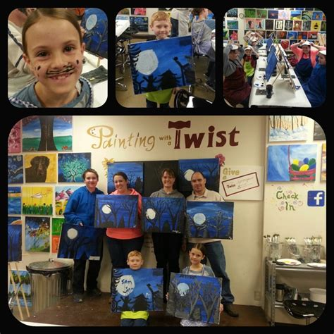 paint with a twist powell family day at painting with a twist to do with
