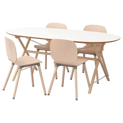birch dining table and chairs slahult svenbertil dining table and chairs white birch 185