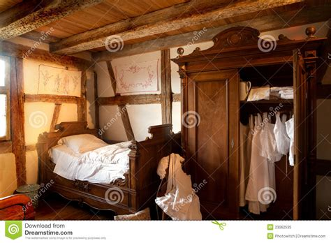 Traditional Country House Plans 19th century bedroom royalty free stock photo image