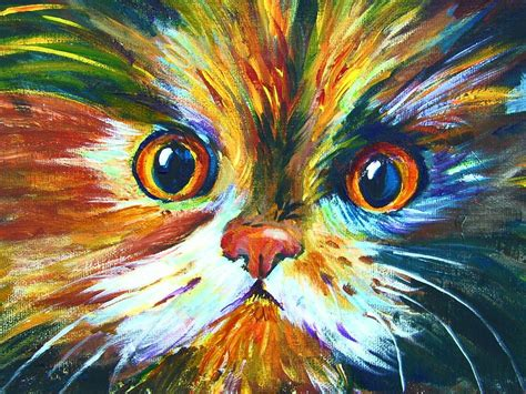 black cat painting step by step how to paint a colorful calico cat pawgustart 60 minute