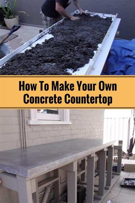 how to make your own how to make your own concrete countertop home and