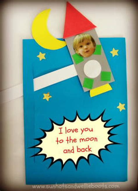 preschool fathers day cards to make preschool crafts for s day rocket card craft