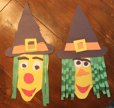 crafts made from construction paper construction paper witch kidlist activities