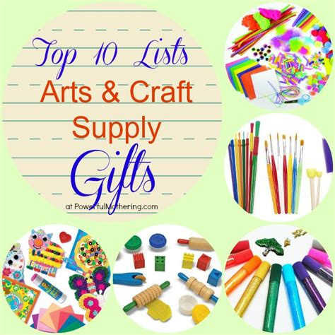 and crafts supplies top 10 lists arts craft supply gifts