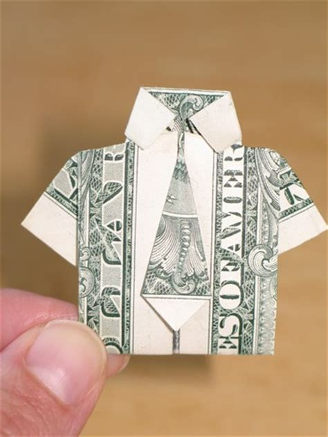 origami dollar shirt and tie paper money origami with american dollar bills shirt