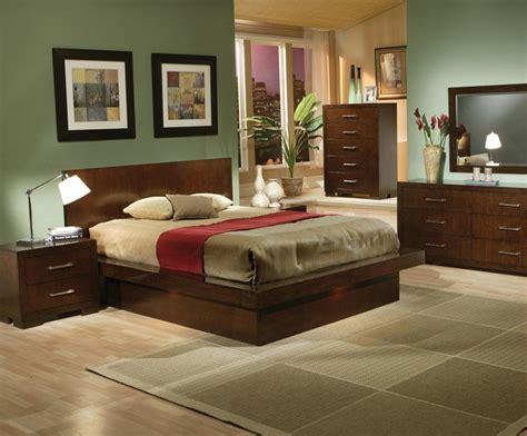 toronto cappuccino platform bedroom set with lights