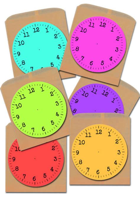 clock crafts for printable new year clock faces my kid craft
