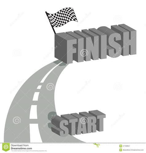 start to finish start to finish road illustration design royalty free
